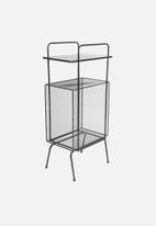 Sixth Floor - Macy mesh side table - black