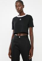 adidas Originals - Adicolour crop top - black