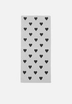Sixth Floor - Heart runner - grey & black