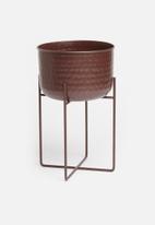 Sixth Floor - Zera planter - rust