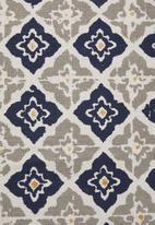 Sixth Floor - Moroccan printed runner - grey & yellow