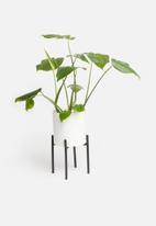 Sixth Floor - Table planter - white & black
