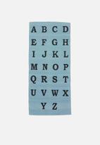 Sixth Floor - Alphabet rug - blue & black