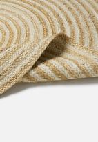 Sixth Floor - Kyra round jute rug - natural & white