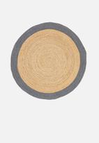 Sixth Floor - Sole jute round rug - grey