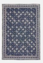 Sixth Floor - Aaliyah printed rug - indigo