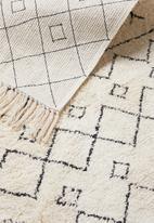 Sixth Floor - Barclay tufted rug - cream & black