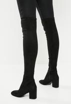 ALDO - Over-the -knee block heel boot - black