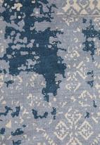 Sixth Floor - Misty woven rug - teal blue