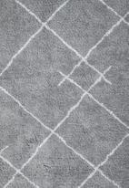 Sixth Floor - Diamond tufted rug - grey & white