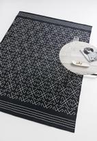 Sixth Floor - Ambrosia woven rug - black & white