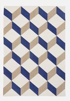 Sixth Floor - Cube printed rug - multi