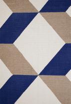 Sixth Floor - Cube printed rug - multi