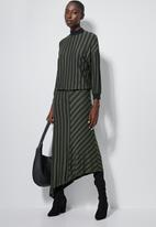 Superbalist - Asymmetric funnel neck dress - khaki & black