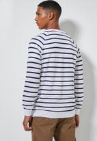 Superbalist - Nautical stripe crew neck knit - navy & white