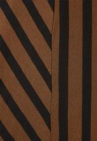 Superbalist - Asymmetric funnel neck dress - tobacco & black