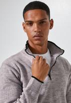 Superbalist - Quarter zip pullover knit - beige