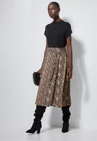 Superbalist - Wrap midi skirt - neutral snake