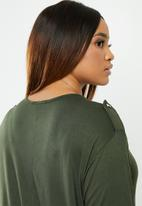 edit Plus - Military style top - green