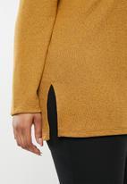 edit Plus - Longer length knit top - yellow
