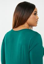 edit Plus - Knot front detail top - blue