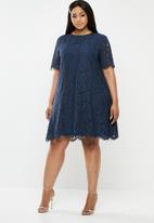 Glamorous - Curve lace dress - navy