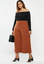 edit Plus - Bardot knit top - black