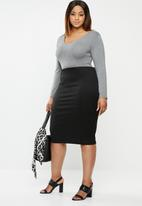 edit Plus - Plus size pencil skirt - black