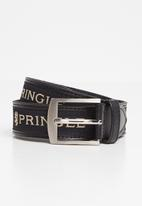 Pringle of Scotland - Leather casual ribbon belt - black