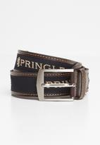 Pringle of Scotland - Leather casual ribbon belt - brown