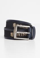 Pringle of Scotland - Leather casual ribbon belt - navy