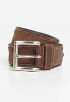 Pringle of Scotland - Selbourne leather belt - brown