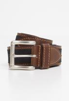 Pringle of Scotland - Selbourne leather belt - black & brown