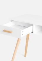Sixth Floor - Alva desk - white & natural