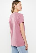Cotton On - Classic slogan T-shirt doing great - purple