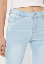 Cotton On - Mid rise cropped skinny jeans - blue