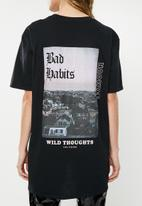 Missguided - Wild thoughts back graphic T-shirt - black
