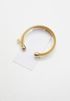 STYLE REPUBLIC - Mesh and double bar bracelet - gold