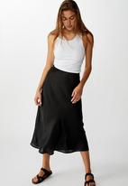 Cotton On - Belle bias midi skirt - black