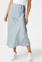 Cotton On - Belle bias midi skirt - blue