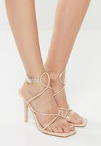 Public Desire - Senseless perspex stiletto heel - neutral