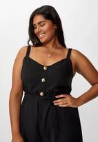 Cotton On - Curve Elle strappy jumpsuit - black