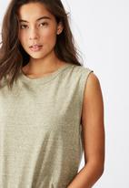 Cotton On - The heritage muscle tank top - green