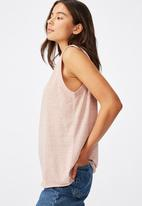 Cotton On - The heritage muscle tank top - beige