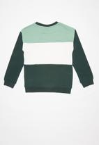 name it - Vance long sleeve sweater - green & white