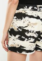Factorie - Fitted mini shorts - black & neutral