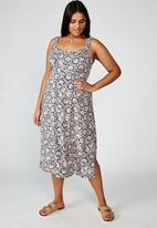 Cotton On - Curve woven melanie midi slip dress jane paisley - multi