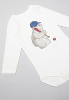 name it - Momil long sleeve bodysuit - white