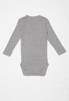 name it - Vitte long sleeve bodysuit - grey
