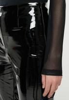 Missguided - Vinyl leggings - black